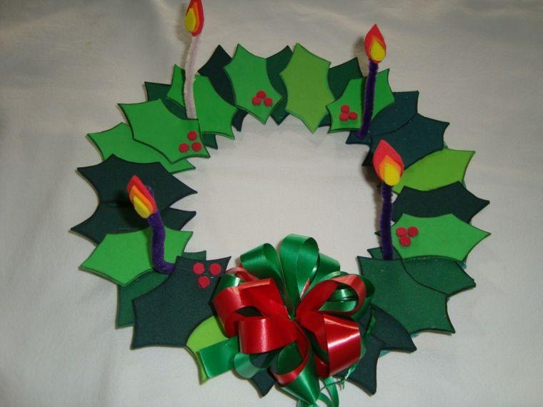 Goma eva estilos color esquemas velas coronas de navidad - Coronas navidenas faciles ...