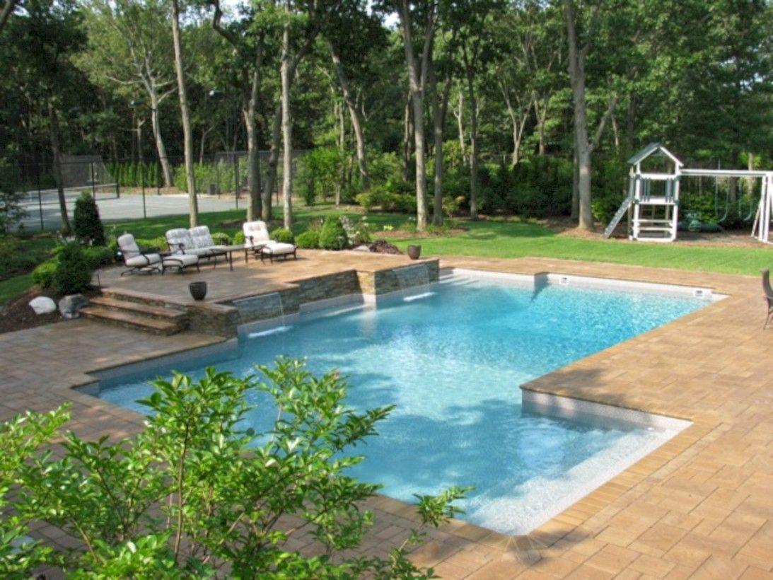 Cool 70 Inspiring Geometric Pool Designs Ideas Http About Ruth Com 2017 11 15 70 Inspiring Geometr Geometric Pool Backyard Pool Landscaping Pool Landscaping