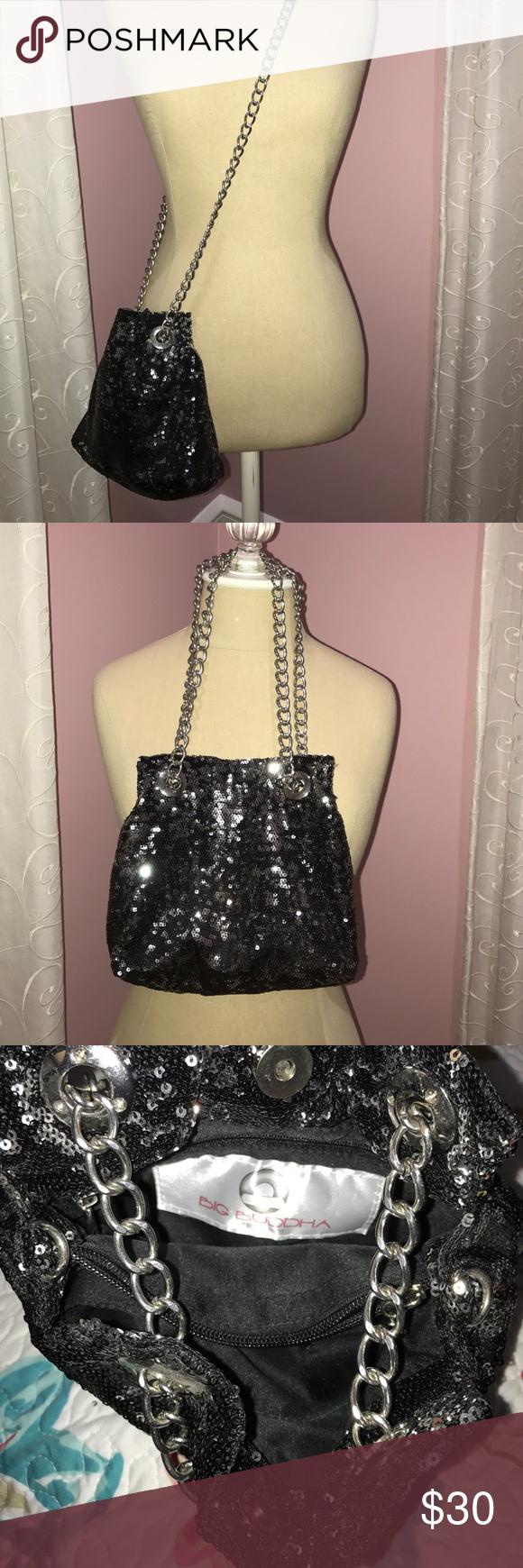 Sparkly big Buddha cross body purse! You need this piece! Can be worn cross body or short Big Buddha Bags Crossbody Bags