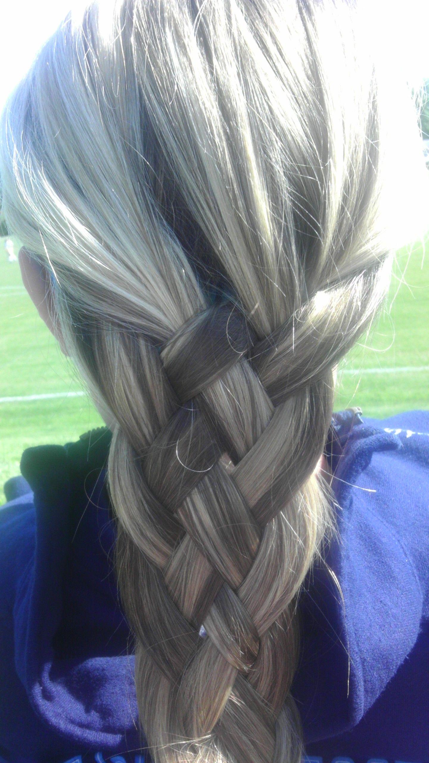 5 layered braid hair and makeup