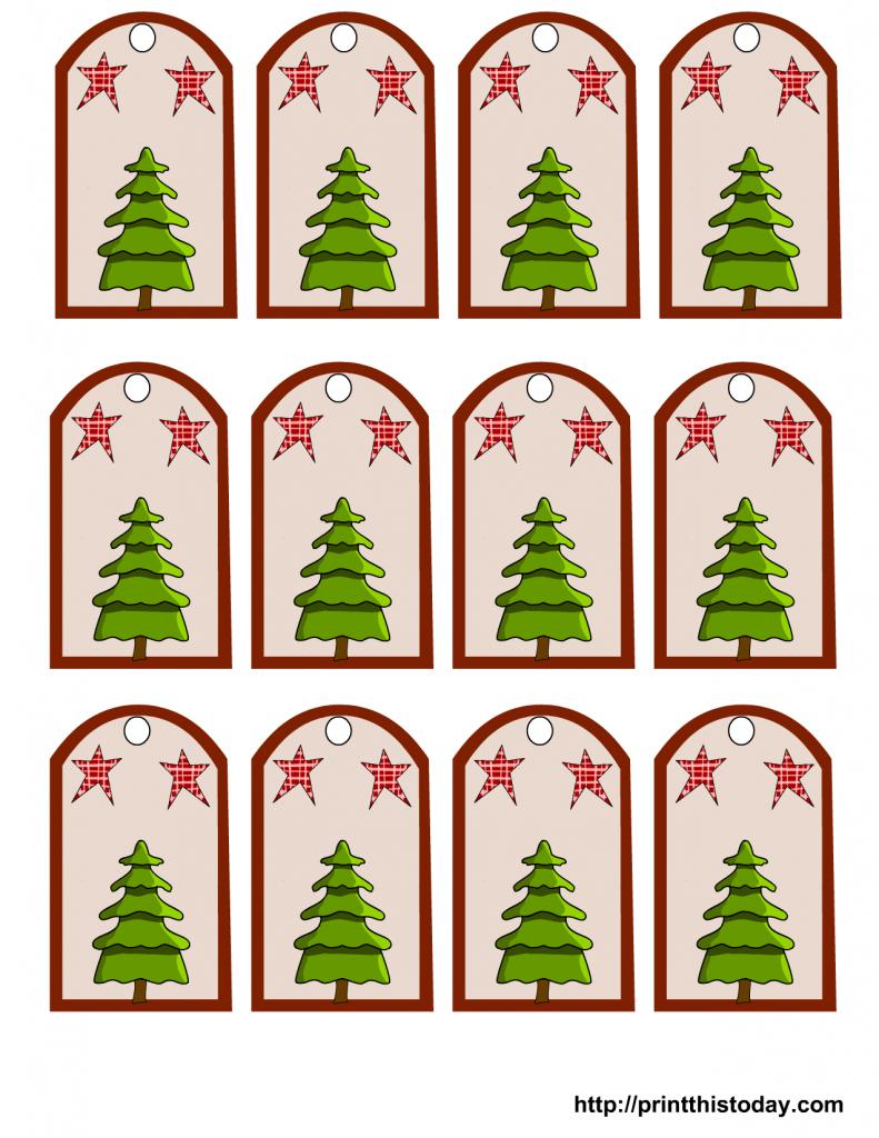 Christmas Gift Tags With Christmas Tree And Stars Christmas Gift Tags Printable Christmas Tags Printable Free Printable Christmas Gift Tags