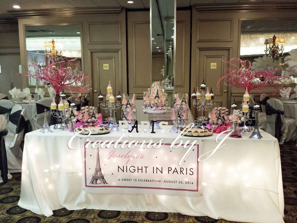 Paris night theme quincea era party ideas sweet 15 and for 15th birthday party decoration ideas