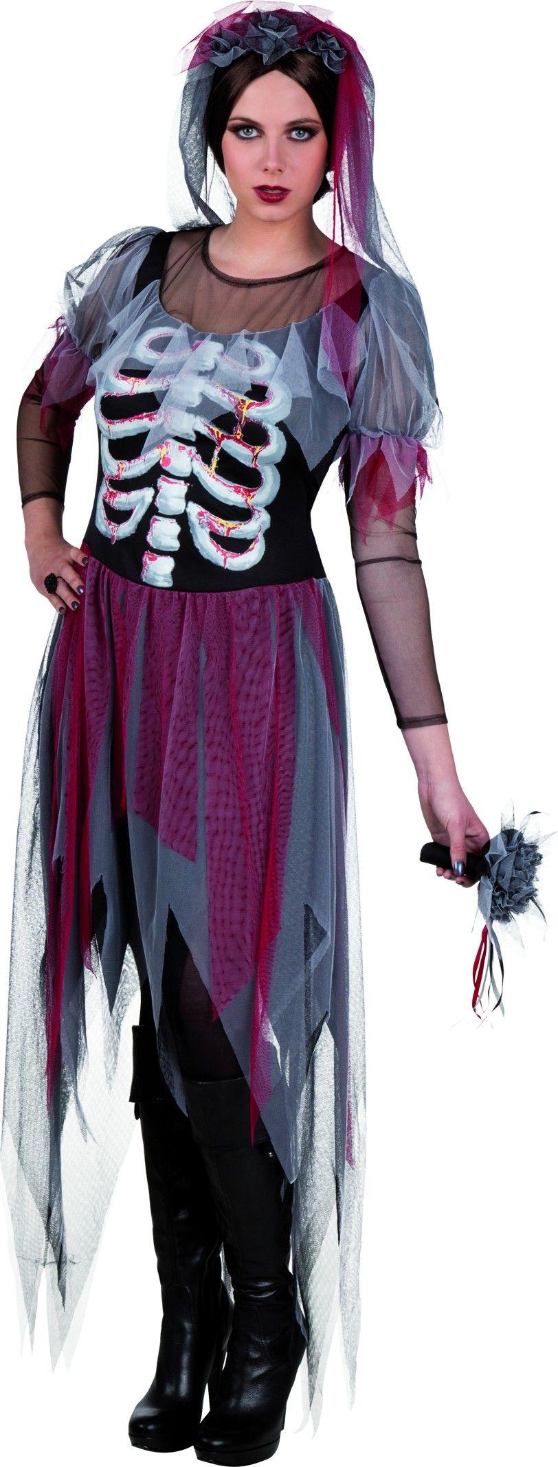 Disfraz de novia gótica mujer Halloween: Este disfraz de novia ...