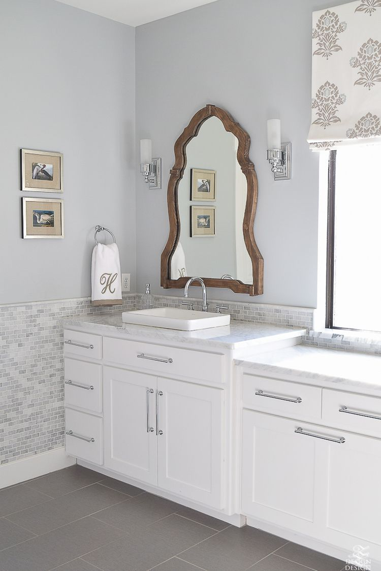 Favorite Paint Colors | Transitional bathroom, Wood mirror and ...