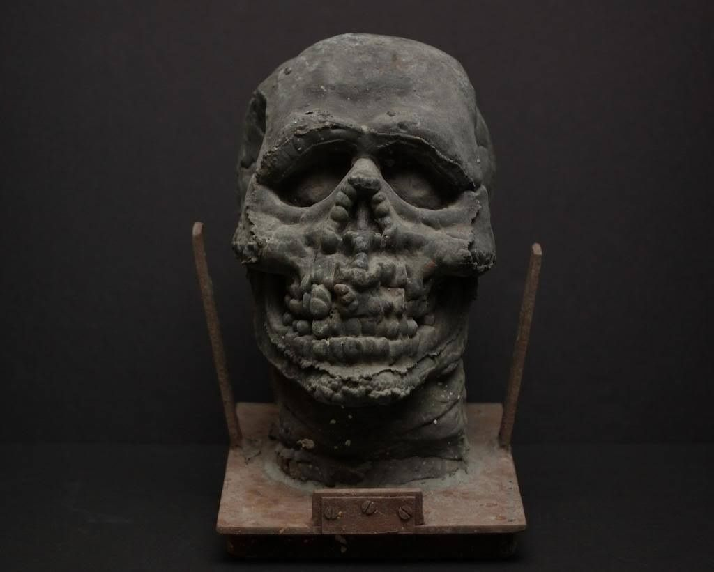 Original Don Post Studios metal mold for the vinyl Skull mask ...