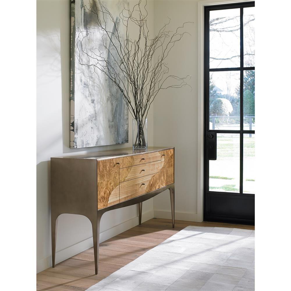 Woodson Mid Century Burl Veneer Bronze Sideboard In 2019 Mid Century Modern Sideboard