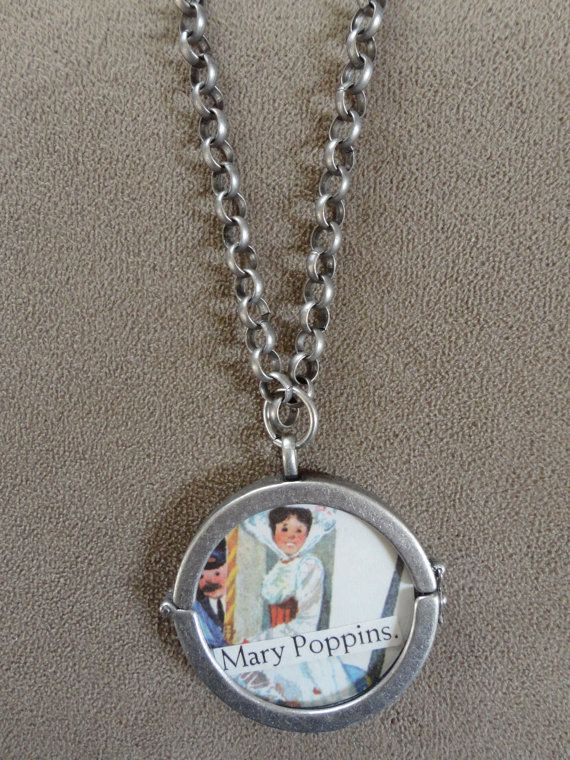 Vintage 1964 Mary Poppins Pendant with Chain by TicketTrinkets, $30.00