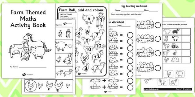Farm Themed KS1 Maths Activity Book - maths activities, numeracy ...