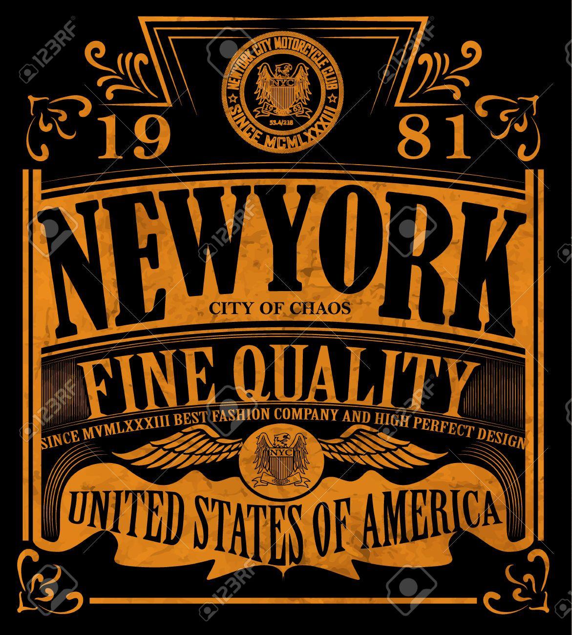 Design a t shirt nyc - 45203296 New York Vintage Slogan Man T Shirt