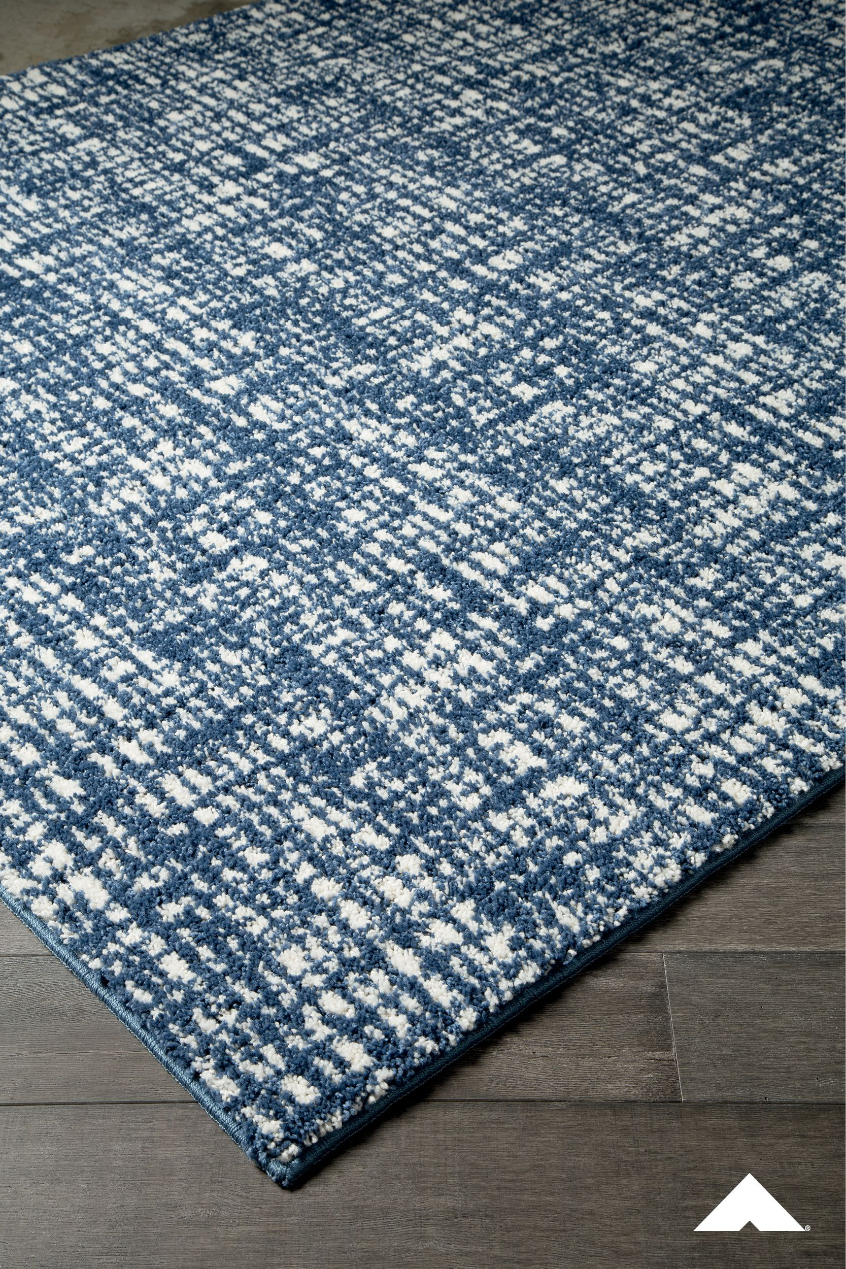 Norris Navy Rug Perfectly Imperfect Crosshatch Design Gives This Area Rug In Denim Blue And White A Rela Navy And White Rug Medium Rugs Blue Living Room Sets