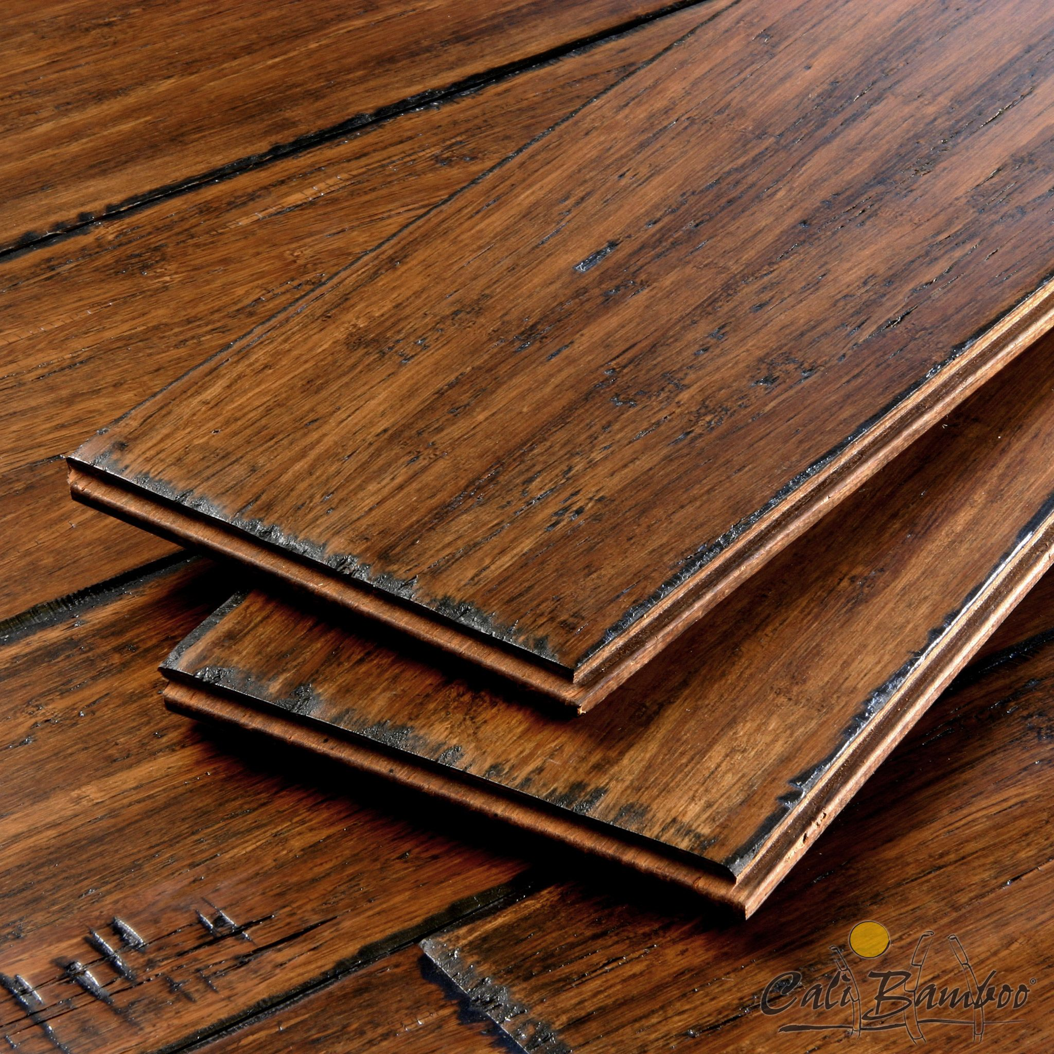 Distressed Mocha Bamboo Flooring Distressed Wood Floors Bamboo