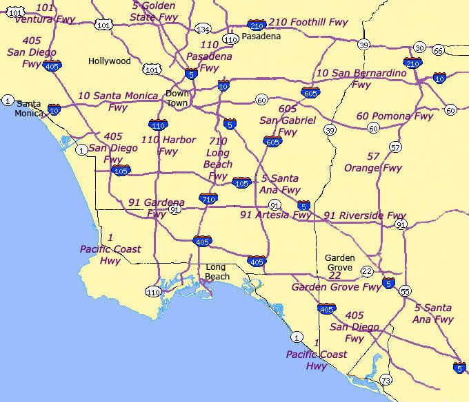 Map Of California 5 Freeway.Sigalerts Looky Loos And Freeway Nicknames Driving La Decoded