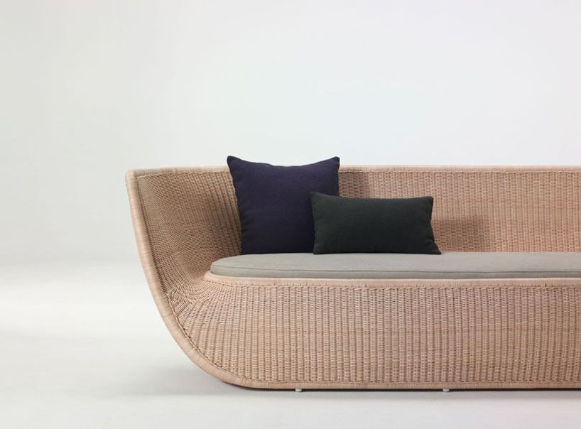 'fruit bowl' sofa by hiroomi tahara for yamakawa rattan