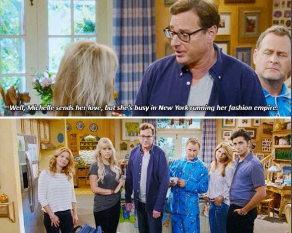 Fuller House - love that they just stare at the camera!
