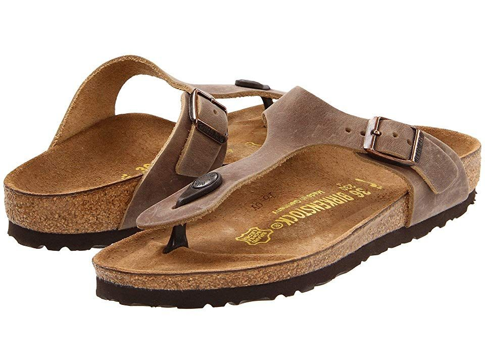 Birkenstock Gizeh Oiled Leather (R) Tobacco Brown