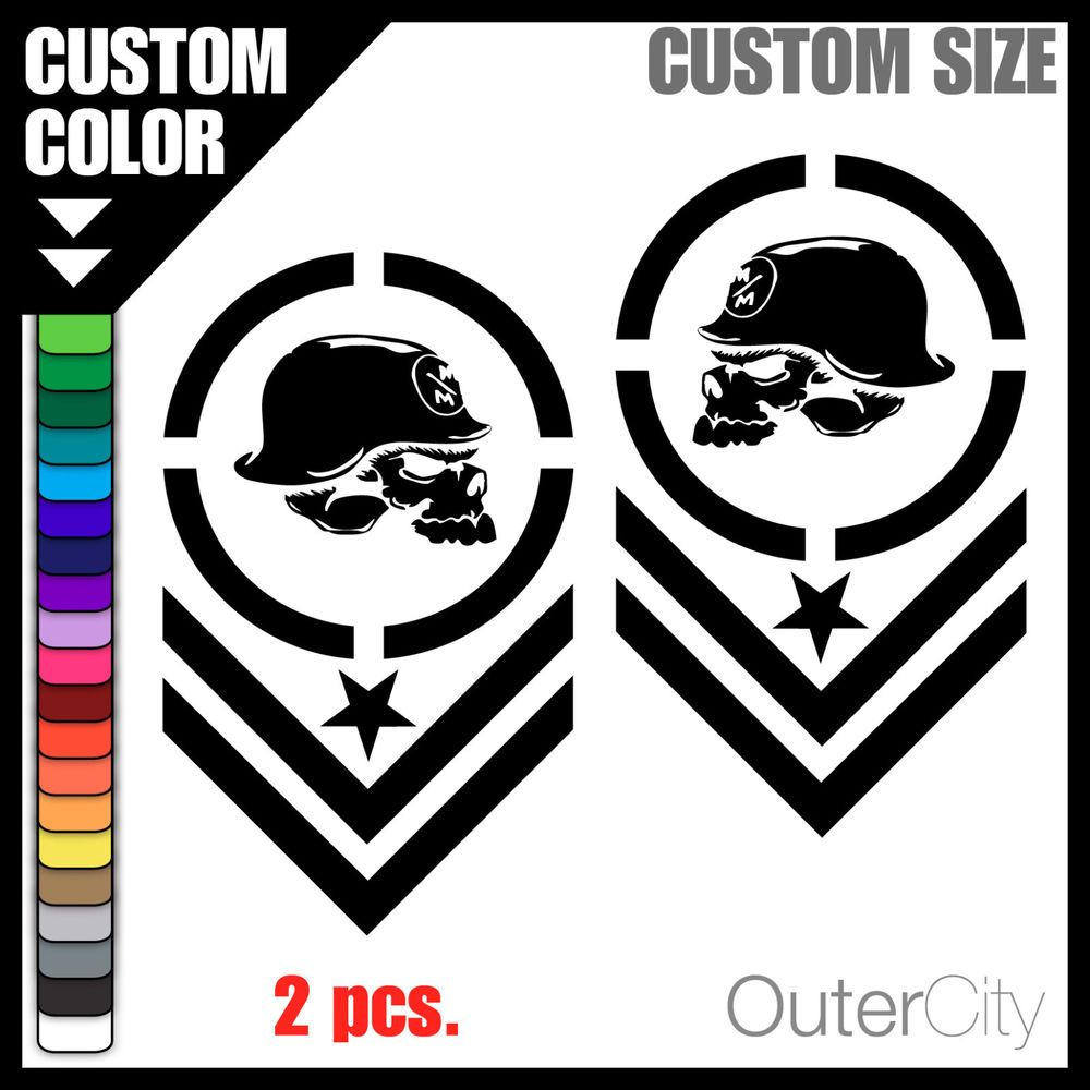 Metal Mulisha Decal Militia Car Custom Motocross Racing Bumper - Custom vinyl decals for metal