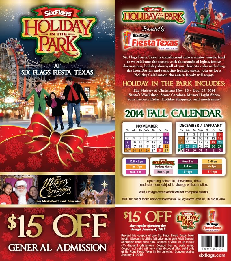 Six Flags Fiesta Texas 15 Off Coupon Six Flags Fiesta Texas Six Flags Only In Texas