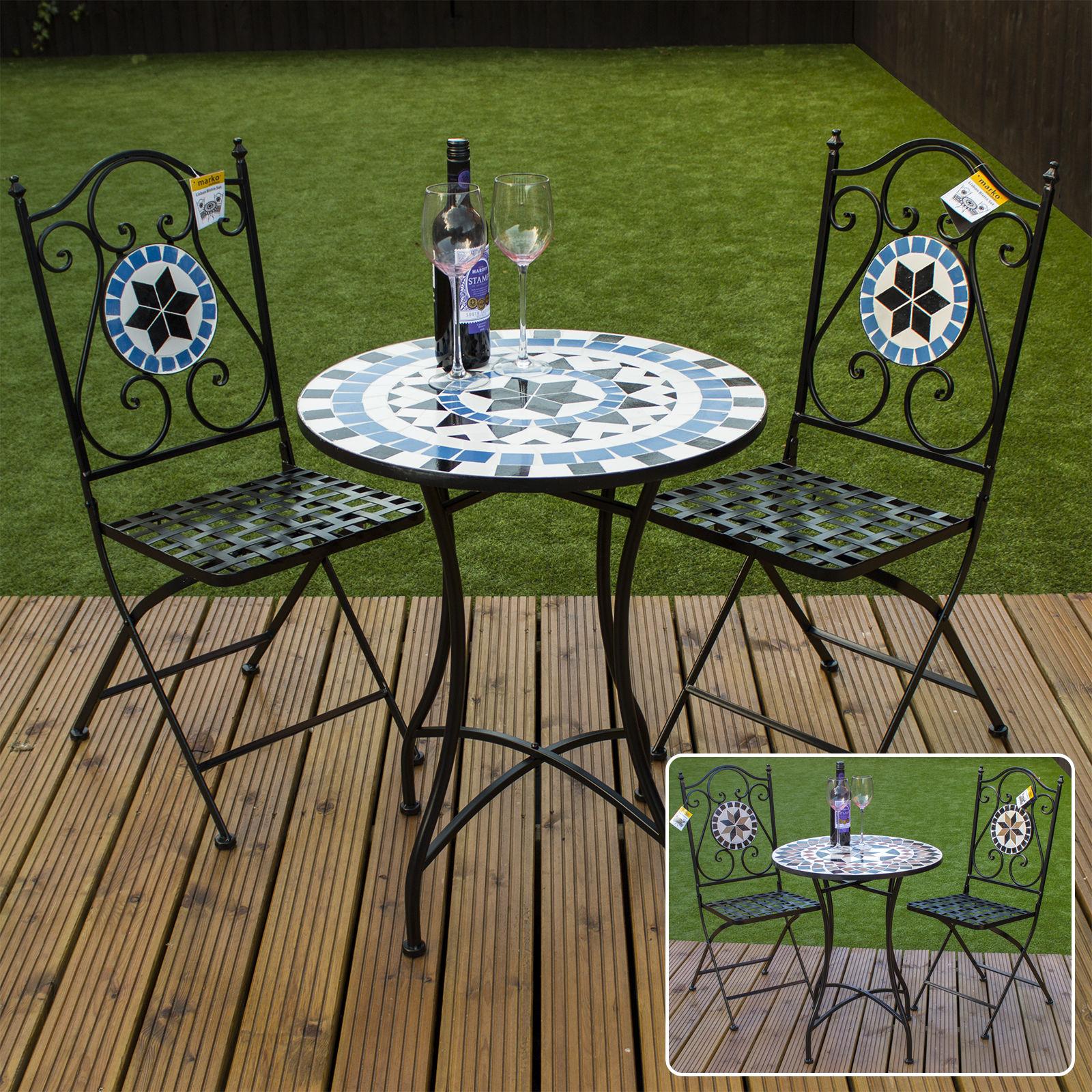 Marko Mosaic Bistro Set Outdoor Patio Garden Design Furniture Table And Chairs 5055493835948 Ebay Patio Garden Design Back Garden Design Outdoor Patio Decor