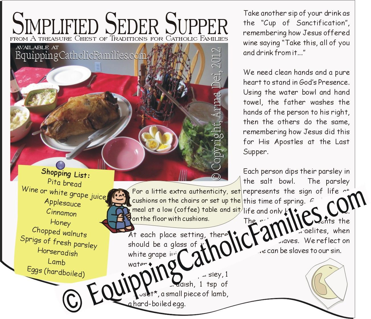 Simplified seder supper with free printable equipping catholic