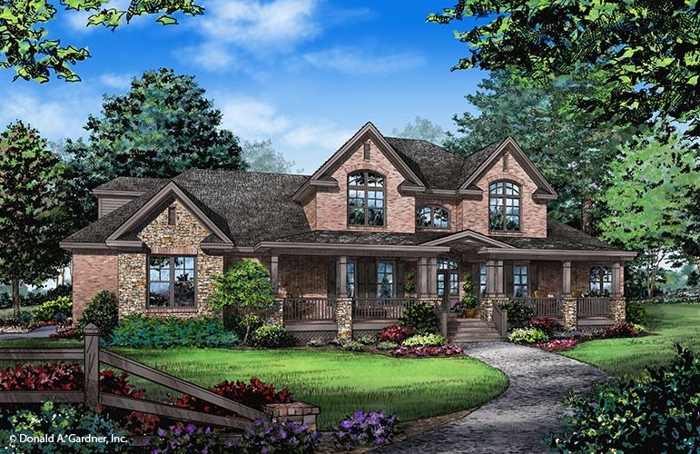 The Lawrenceville Home Plan By Donald A Gardner Architects Stone House Plans Country Style House Plans Country House Plans