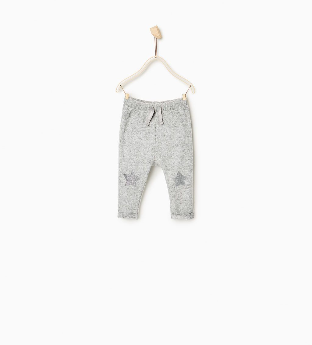 TROUSERS WITH STAR KNEE PATCHES-SKIRTS AND TROUSERS-BABY ...