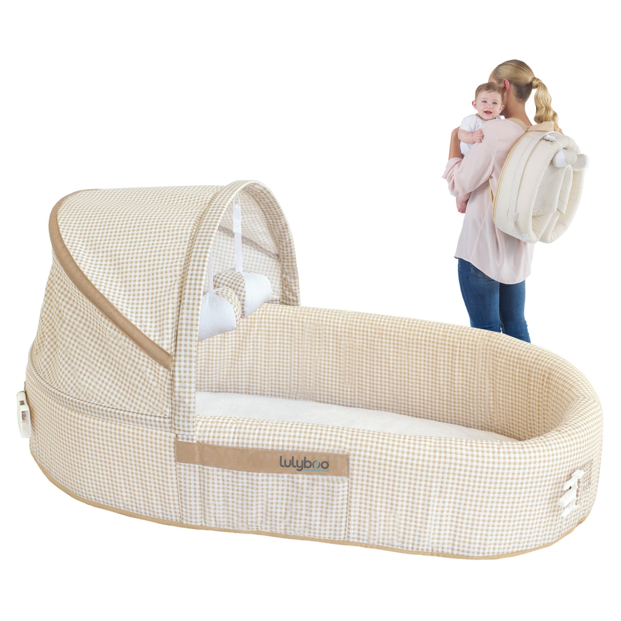Lulyboo Baby Lounge - Natural. Lulyboo Portable Baby Bassinet To-Go Infant  Co-Sleeper ... 359fa348f