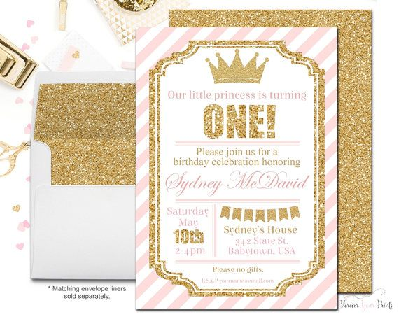 Princess party invitations princess birthday invites girls 1st princess birthday invitations girls birthday by foreveryourprints filmwisefo