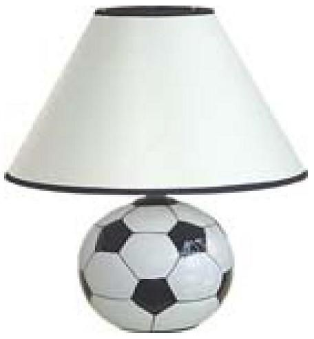 Ceramic Soccer Ball Lamp Welcome To The Manor Sports Themed Table Lamps