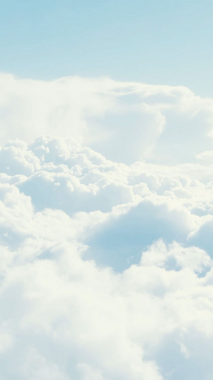 Download Dense White Clouds Atmosphere Iphone 6 Wallpaper