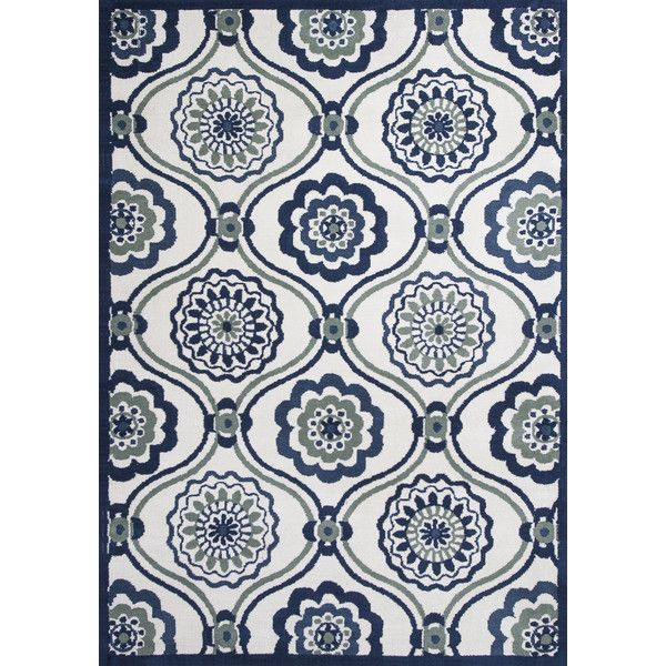 Allure Ivory/Navy Mosaic Area Rug | Joss & Main