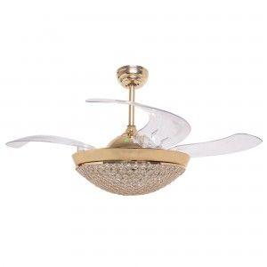 Retractable Ceiling Fan Dimmable Led Ceiling Fan Foldable