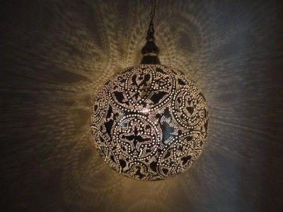 Moroccan Brass Lantern Lamp