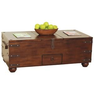 Santa Fe Traditional Storage Coffee Table By Sunny Designs Becker Furniture World Tail Or