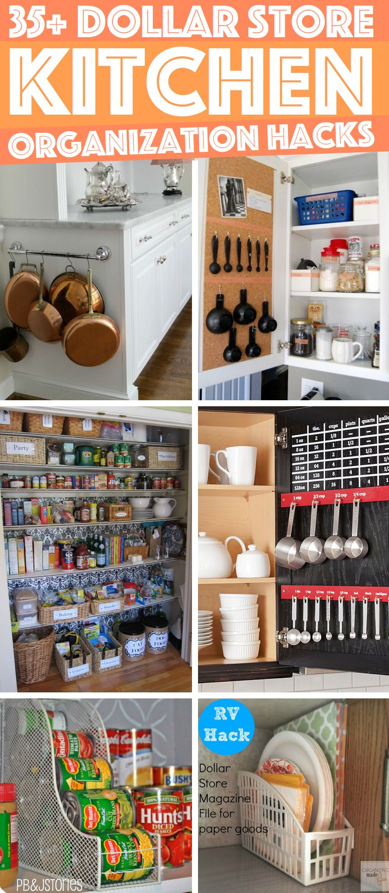 36 Dollar Store Kitchen Organization Hacks You Can Pull Off Like A Child S Play Cute Diy Projects Kitchen Hacks Organization Home Organization Hacks Kitchen Organization