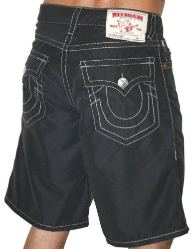 TRUE RELIGION Mens Swim Board Shorts Trunks Denim Surf Jeans Designer Beach  Fashion  69.99 3a149686f8a