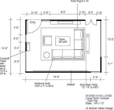 Jill Seidner Interior Design Winner Design Challenge Space Plan For Your Living Roo Living Room Floor Plans Living Room Furniture Layout Livingroom Layout