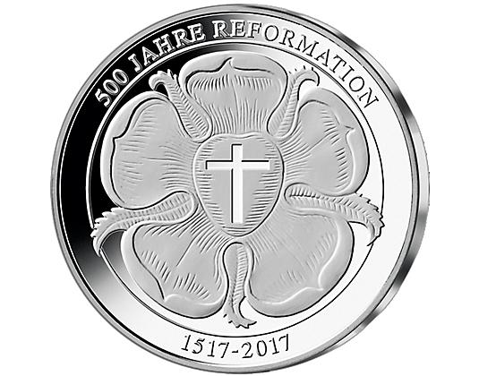 Silber Neuprägung Martin Luther Mdm Deutsche Münze Luther Rose