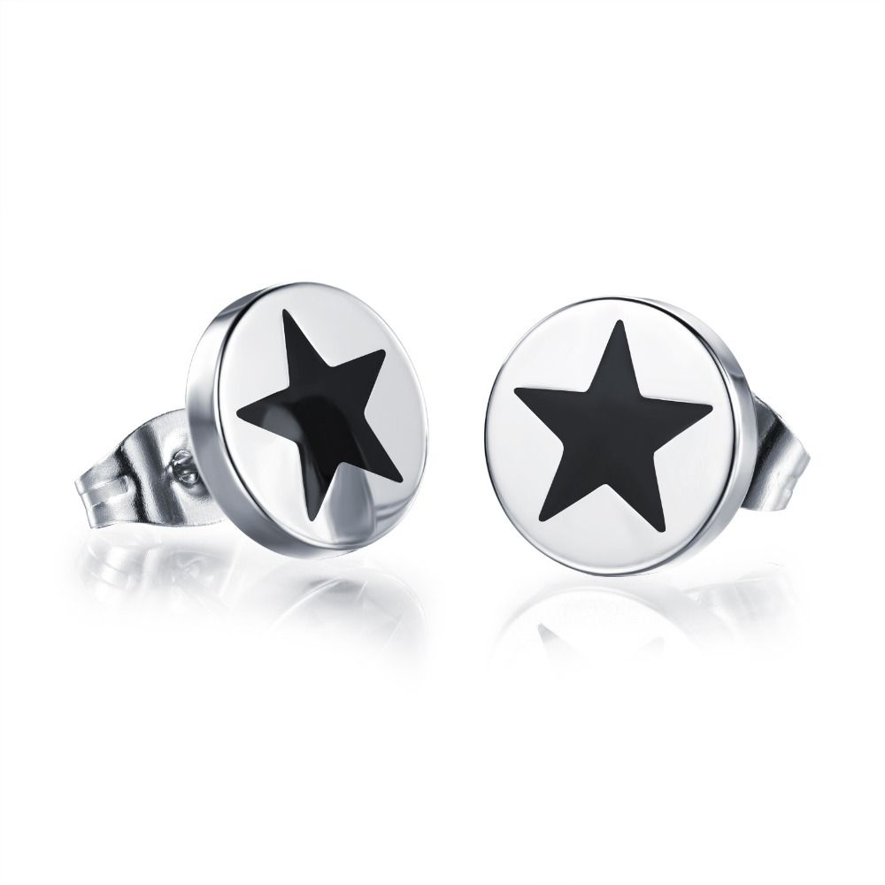 clear az mens cut jewelry round stud earrings fashion invisible silver bling cz set sf basket