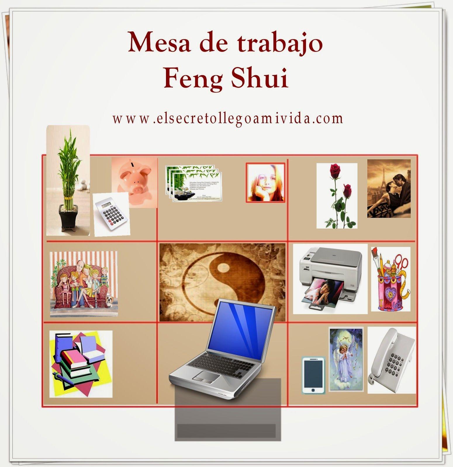 El secreto llego a mi vida mesa de trabajo con feng shui - Feng shui atraer dinero ...