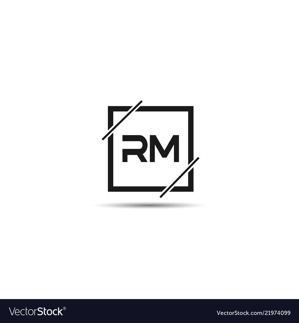 initial letter rm logo template design vector image on vectorstock logo templates letter logo design free logo templates initial letter rm logo template design