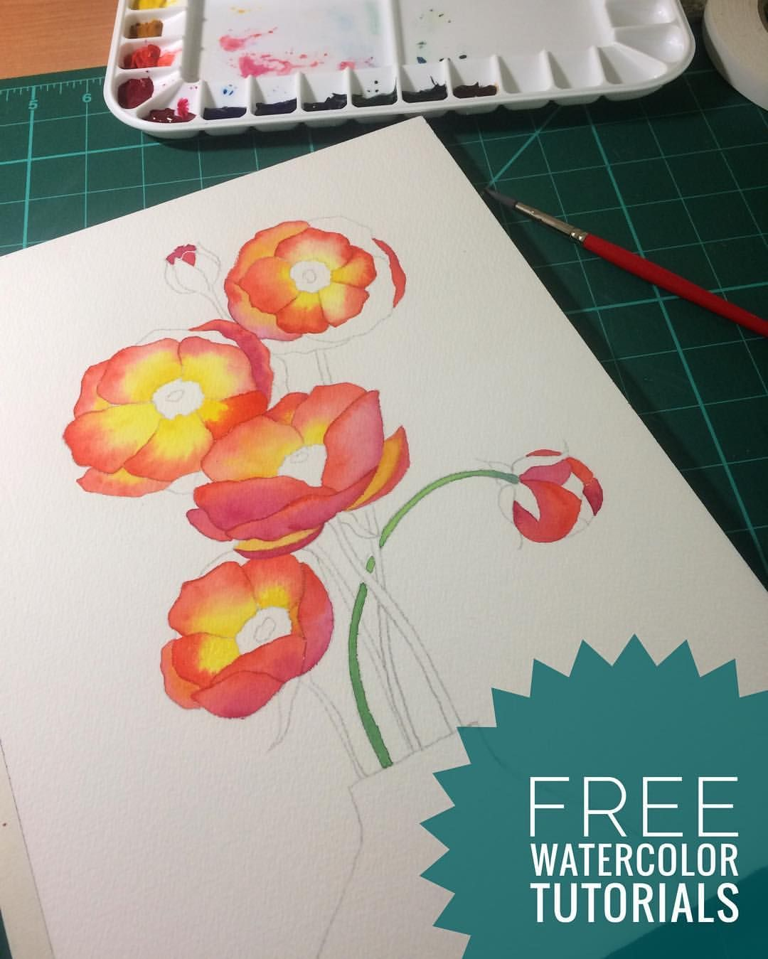 Free Watercolor Tutorials For Beginners I M Currently Working On