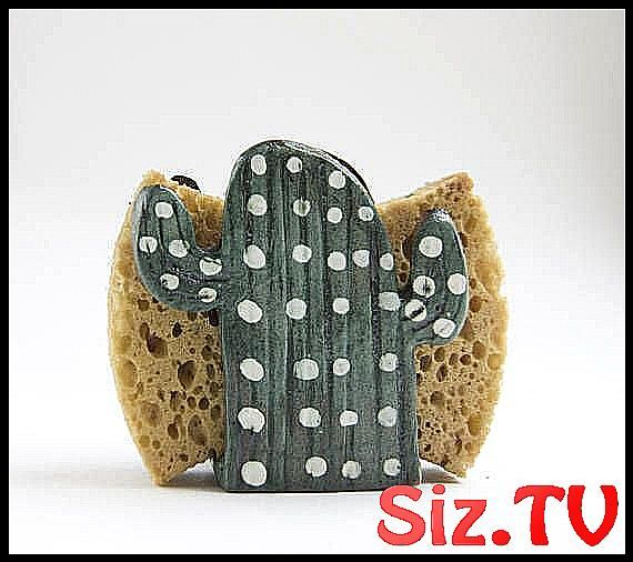 Porte-serviette de cactus en c  ramique  Cadeau de