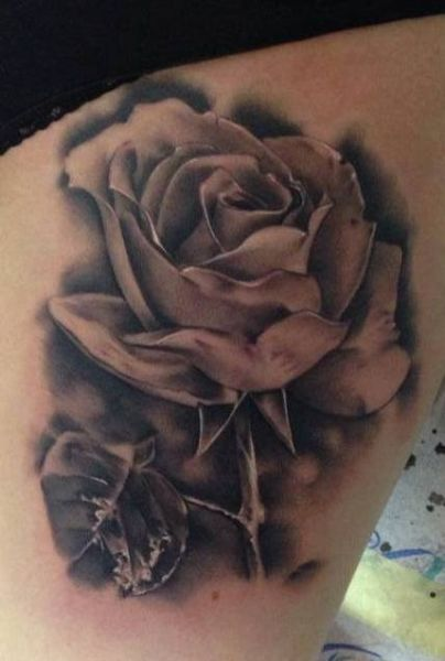 Realistic Rose Tattoo Designs Best 3d Tattoo Ideas Realistic Rose Tattoo Rose Tattoo Design Rose And Butterfly Tattoo