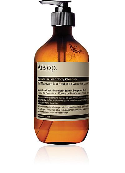 We Adore: The Geranium Leaf Body Cleanser from Aesop at Barneys New York