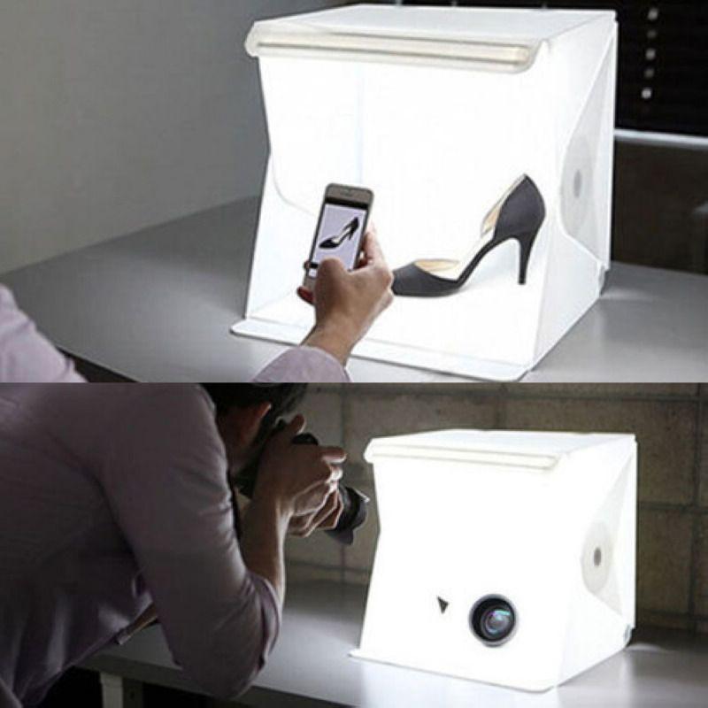 7u20ac Mini Photo Studio Photography Tent Kit Backdrop Cube Box Built-in Light Room & 7u20ac Mini Photo Studio Photography Tent Kit Backdrop Cube Box Built ...