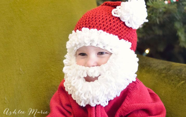Double Loop Crochet Santa Beard Pattern - multiple sizes | Ashlee ...