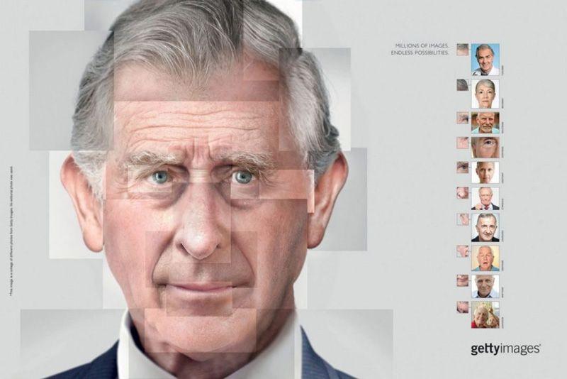 Príncipe Charles a partir de várias partes de outras imagens
