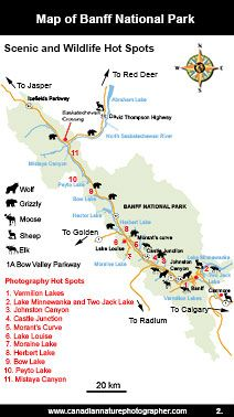 Tourist Map Of Banff Canada Map of Banff National Park | Banff, Banff national park, Canada travel