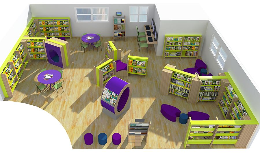 school library design ideas for furniture layout - Library Design Ideas
