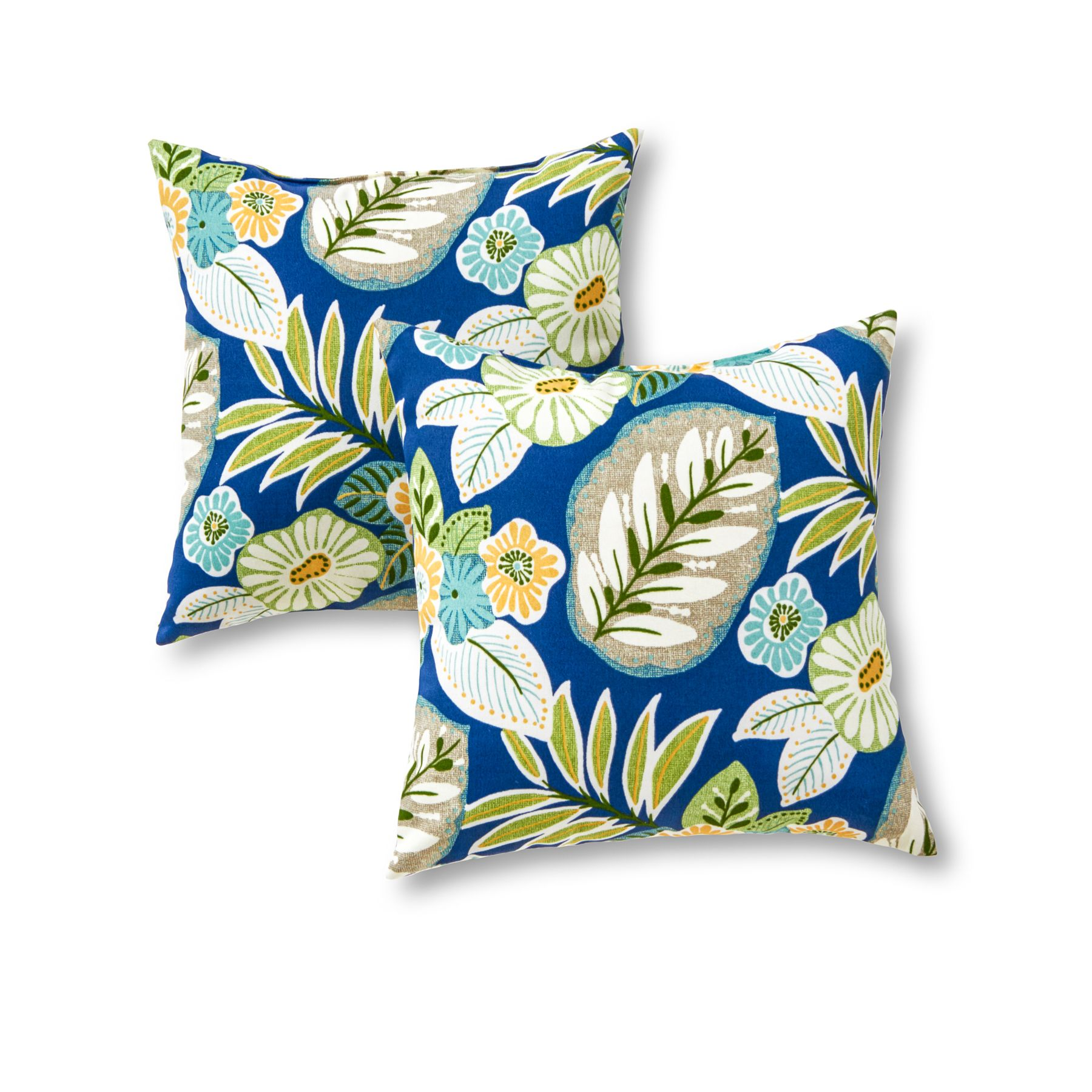 Greendale Home Fashions Outdoor Accent Pillows 2 Pk Marlow Blue